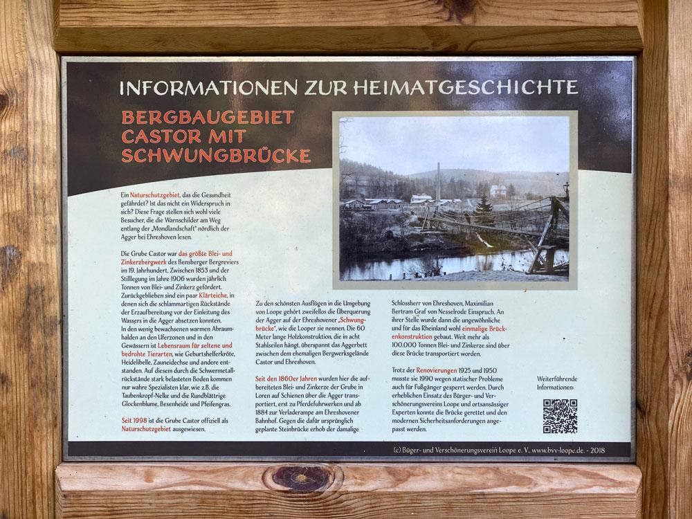 Castor Informationsschild Loope - Walk and Wonder